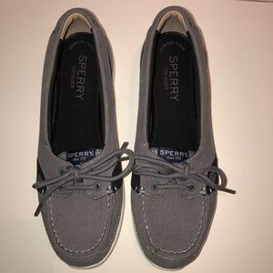 Sperry grey and black top sider